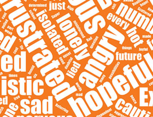 What three words describe how you're feeling today?